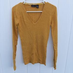 ❤BOGO❤ Joyce Leslie Mustard V Neck Sweater
